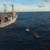 本所再次於西太平洋施放兩組海氣象觀測浮標