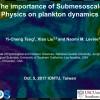 物理組專題討論演講10月5日(四)14:00The importance of submesoscale physics on plankton dynamics.鄧亦程教授 (National Central University, Taiwan)