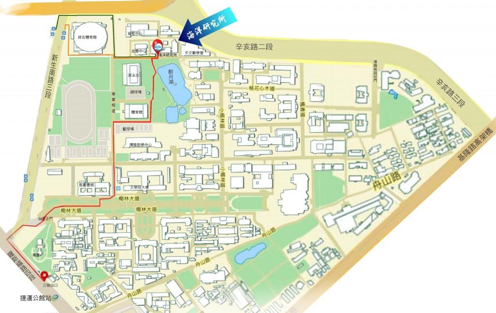 國立臺灣大學海洋研究所地理位置